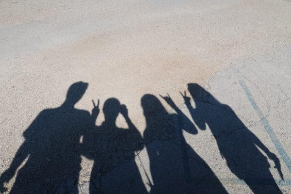 Familie als Schattenbild